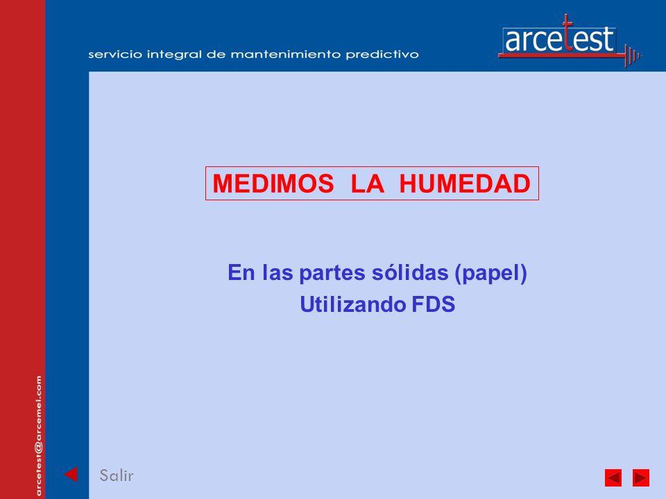 PORTADA Salir MEDIMOS LA HUMEDAD En las partes sólidas (papel) Utilizando FDS