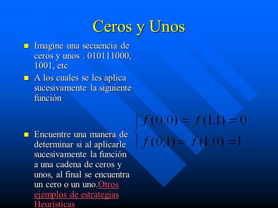 Ceros y Unos Imagine una secuencia de ceros y unos. 010111000, 1001, etc Imagine una secuencia de ceros y unos. 010111000, 1001, etc A los cuales se l
