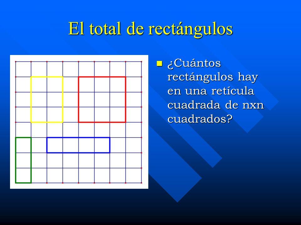 El total de rectángulos ¿Cuántos rectángulos hay en una retícula cuadrada de nxn cuadrados?