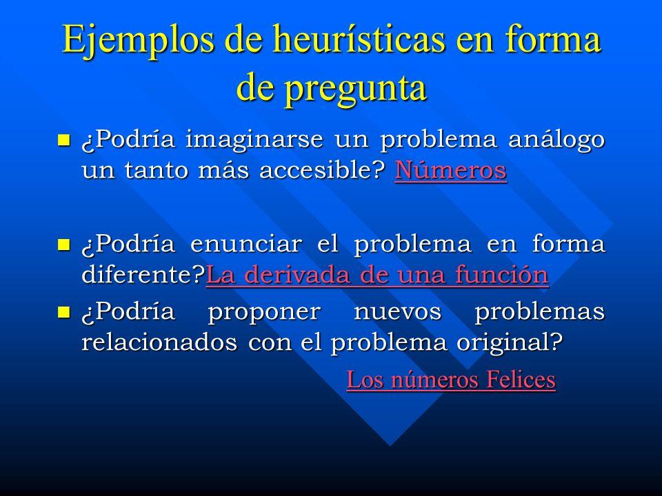 Otros ejemplos de estrategias Heurísticas Descomponer el problema en subproblemas.