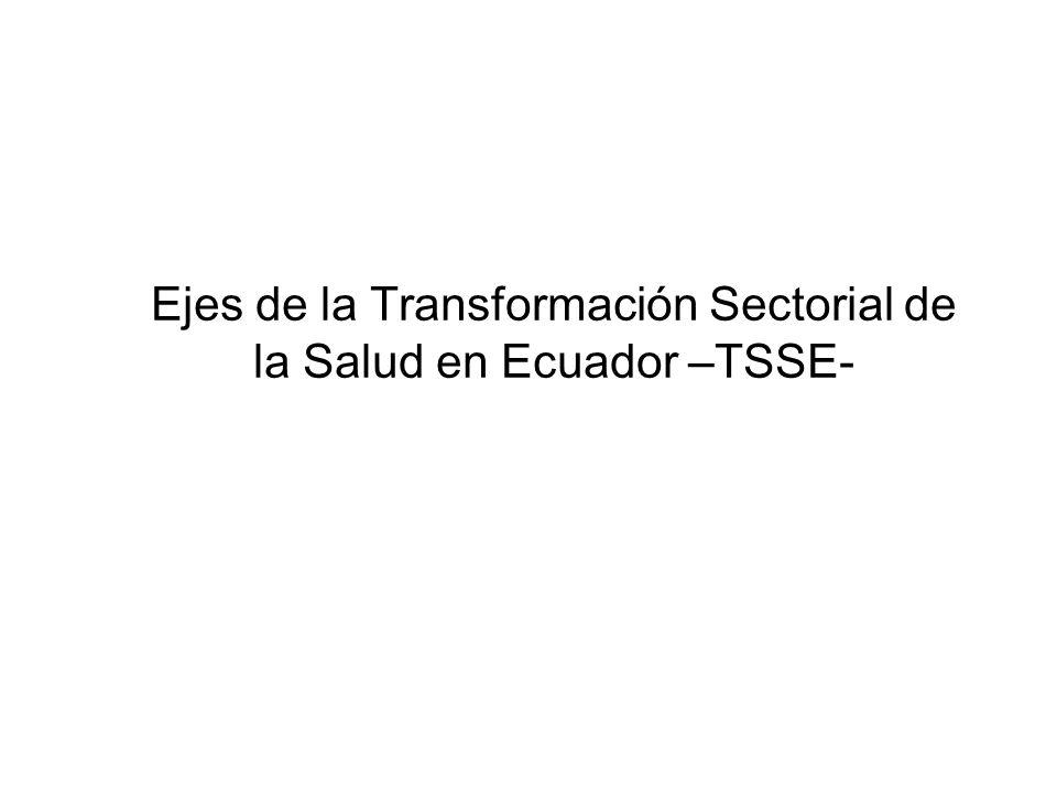 Ejes de la Transformación Sectorial de la Salud en Ecuador –TSSE-