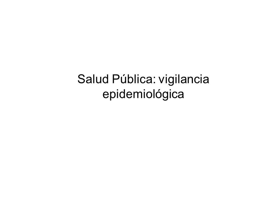 Salud Pública: vigilancia epidemiológica