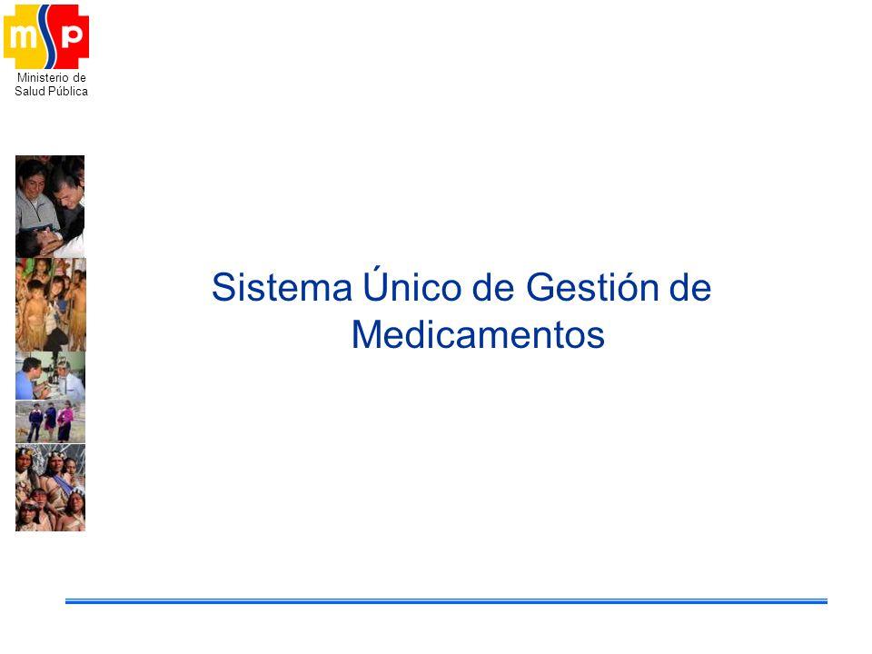 Ministerio de Salud Pública Sistema Único de Gestión de Medicamentos