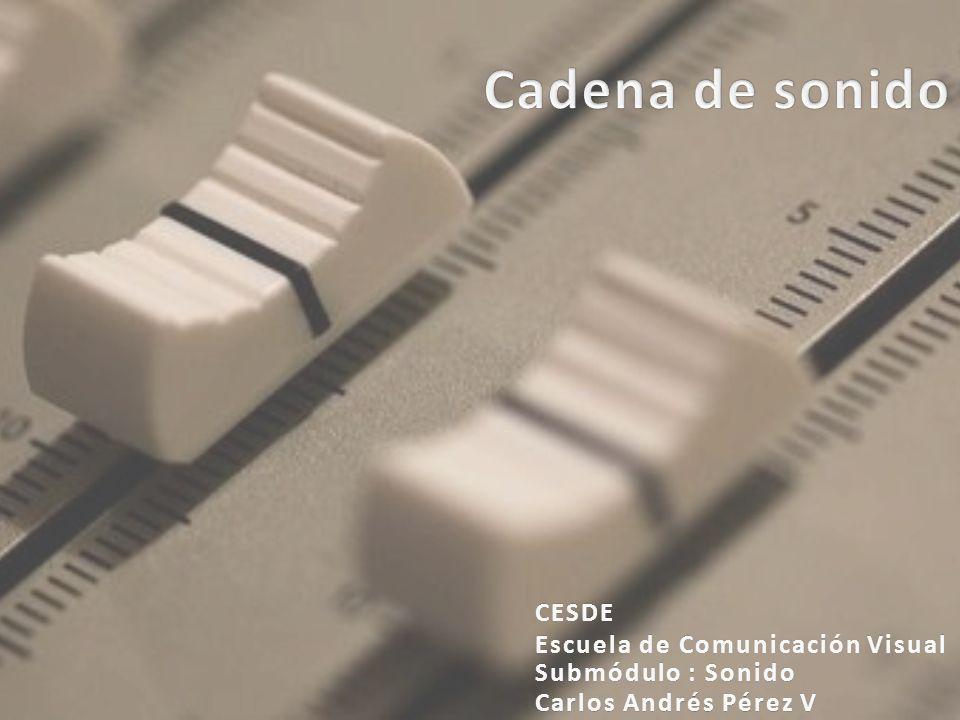 Carlos Andrés Pérez VCarlos Andrés Pérez V Submódulo : SonidoSubmódulo : Sonido CESDE Escuela de Comunicación VisualEscuela de Comunicación Visual