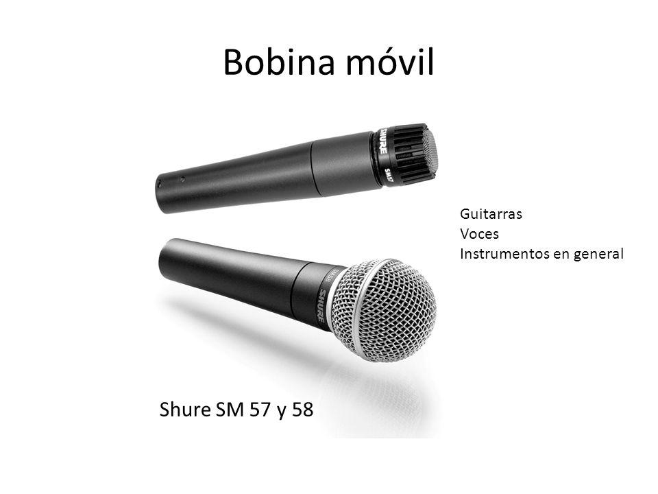 Bobina móvil Shure SM 57 y 58 Guitarras Voces Instrumentos en general
