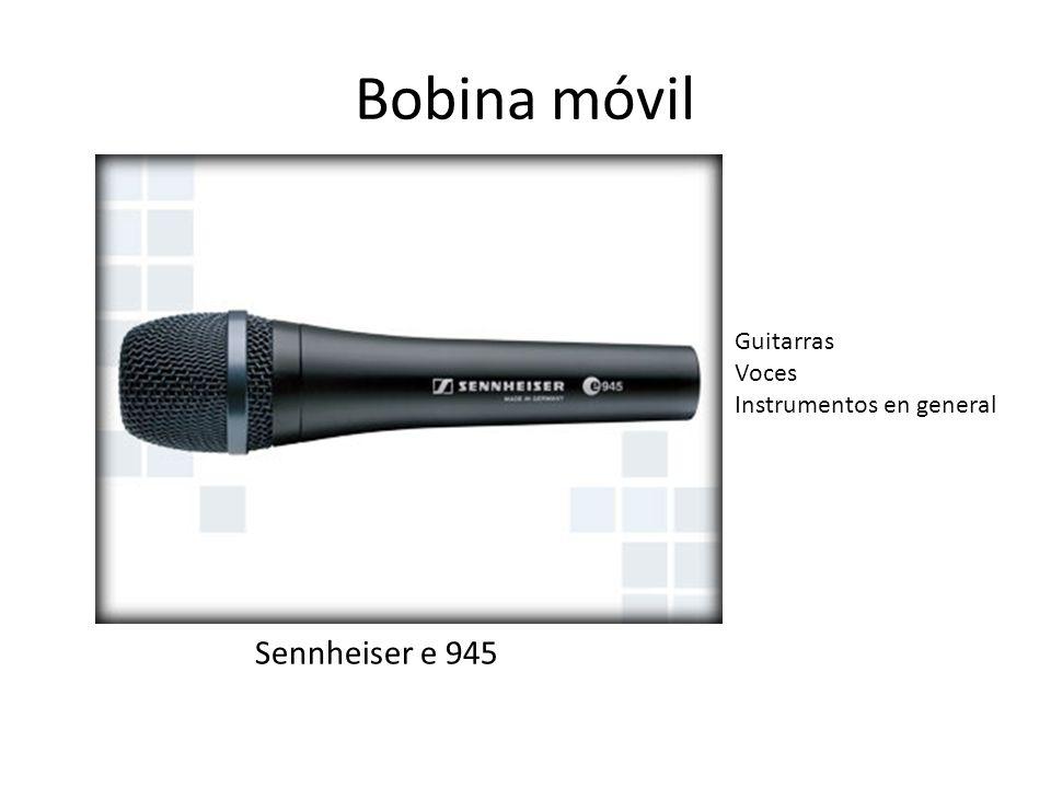 Bobina móvil Sennheiser e 945 Guitarras Voces Instrumentos en general