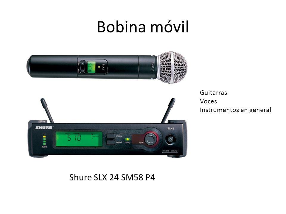 Bobina móvil Shure SLX 24 SM58 P4 Guitarras Voces Instrumentos en general