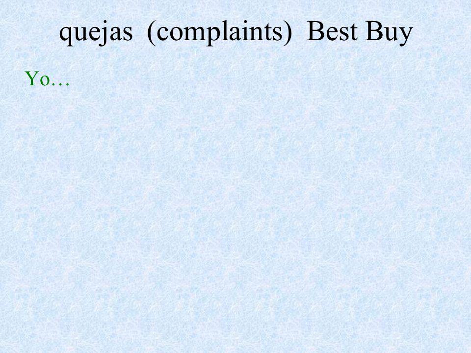 quejas (complaints) Best Buy Yo…