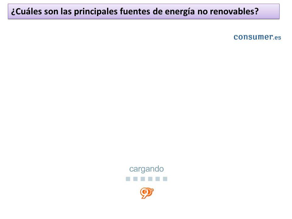 ¿Cuáles son las principales fuentes de energía no renovables?