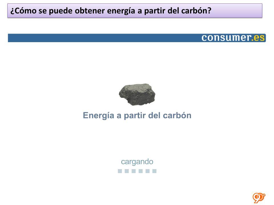 ¿Cómo se puede obtener energía a partir del carbón?
