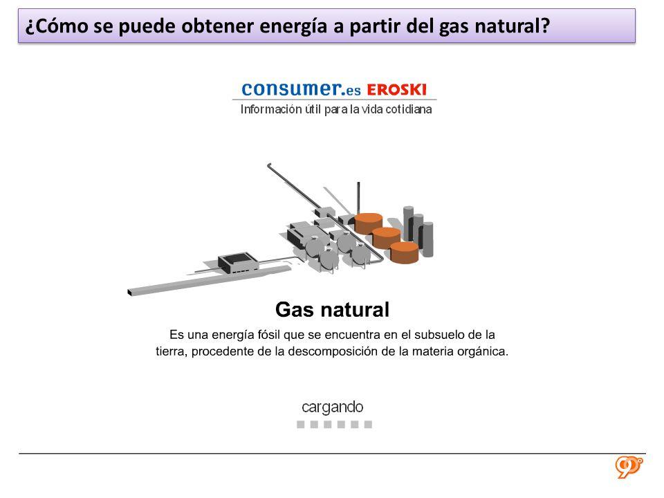 ¿Cómo se puede obtener energía a partir del gas natural?