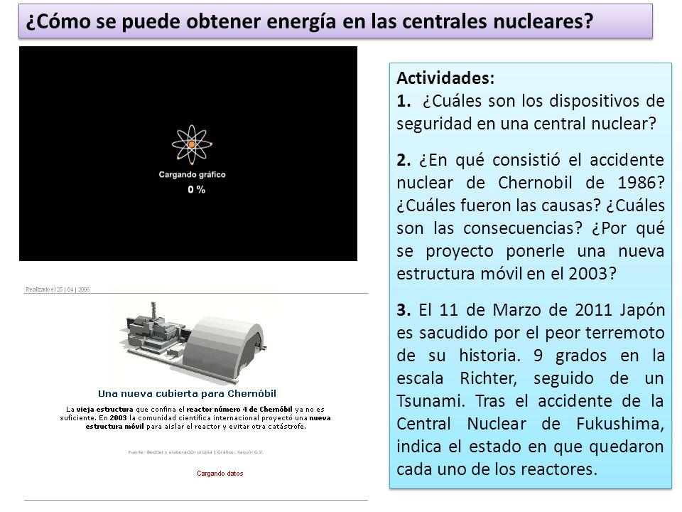 ¿Cómo se puede obtener energía en las centrales nucleares.