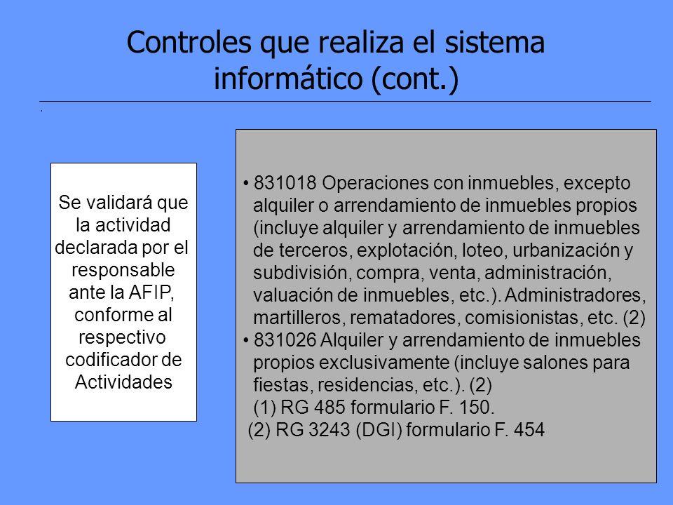 13 Controles que realiza el sistema informático (cont.).
