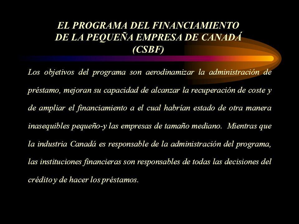 Los objetivos del programa son aerodinamizar la administración de préstamo, mejoran su capacidad de alcanzar la recuperación de coste y de ampliar el