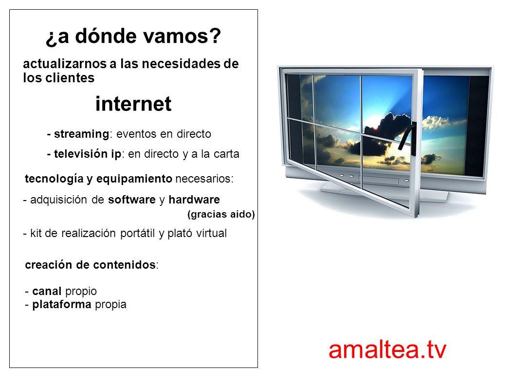 valencia - madrid info@amaltea-audiovisuales.com www.amaltea.tv 902 92 97 80