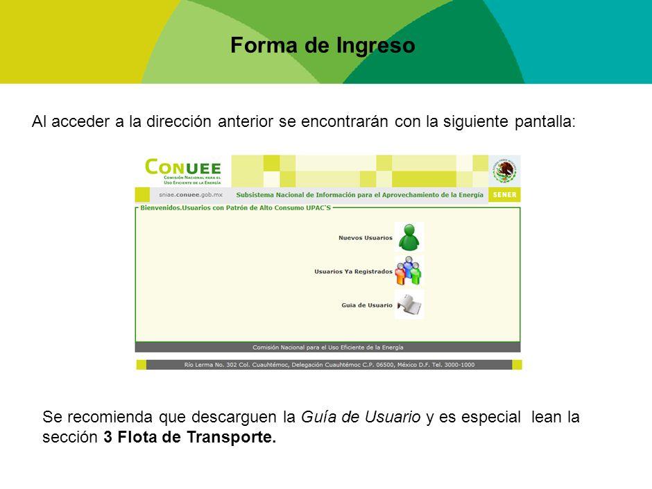 Forma de Ingreso Al acceder a la dirección anterior se encontrarán con la siguiente pantalla: Se recomienda que descarguen la Guía de Usuario y es esp