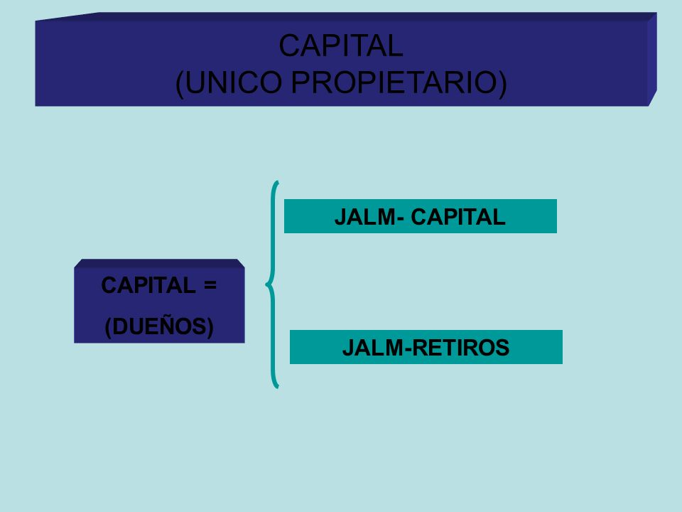 CAPITAL (UNICO PROPIETARIO) CAPITAL = (DUEÑOS) JALM- CAPITAL JALM-RETIROS