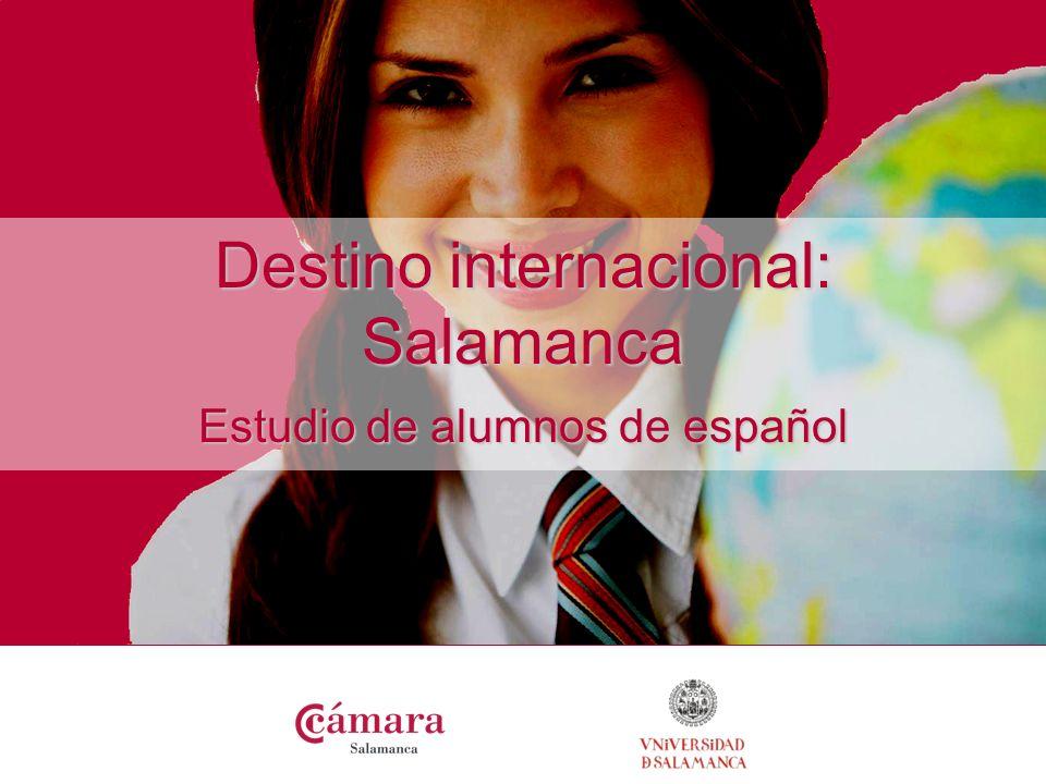 el español en Salamanca Salamanca es referente en la docencia de español Más 25.000 estudiantes se matricularon en cursos de español en 2007 Sector en progresivo crecimiento