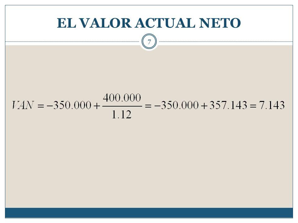 EL VALOR ACTUAL NETO 7