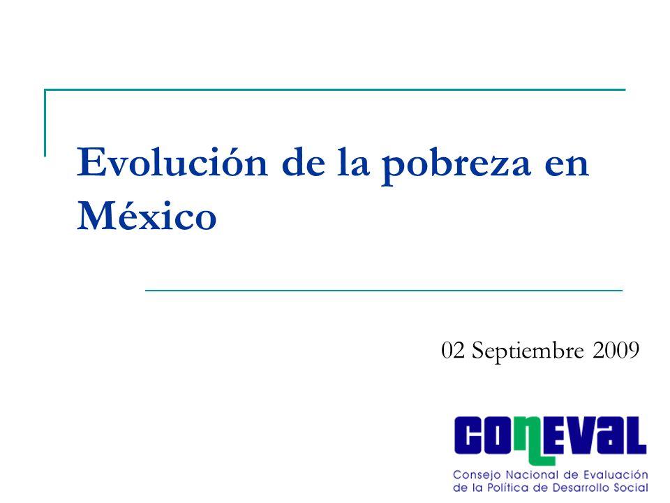 Evolución de la pobreza en México 02 Septiembre 2009