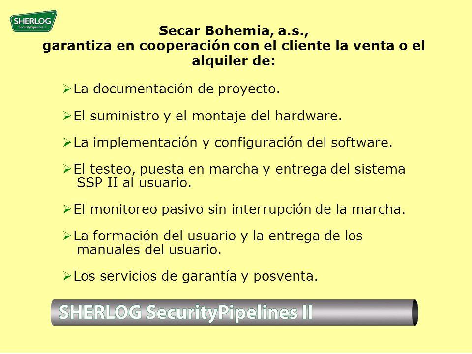 Secar Bohemia, a.s., garantiza en cooperación con el cliente la venta o el alquiler de: La documentación de proyecto.
