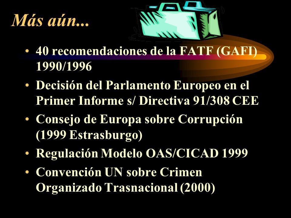 UNA LUCHA MUNDIAL 1980 Recomendación C.M.U.E. R 80 sobre encubrimiento de capitales de origen criminal Legislación Modelo Interpol 1985 Principios Ban