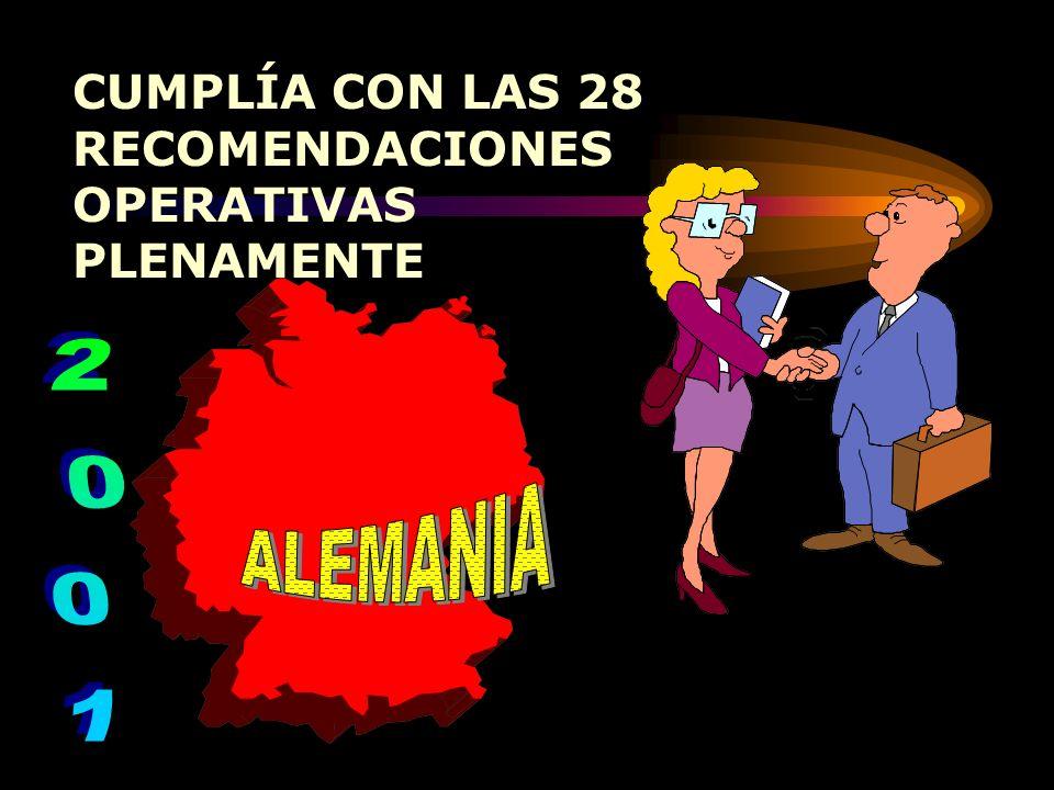 CUMPLÍA PLENAMENTE CON LAS 28 RECOMENDACIONES OPERATIVAS