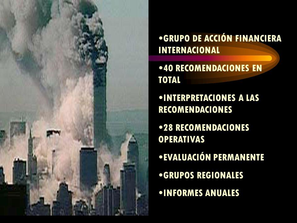Financiamiento Por actividades Comerciales MANEJO DE FONDOS POR BANCOS OFICIALES A NIVEL MUNDIAL UTILIZACIÓN DE GIROS POR SISTEMAS NO IDENTIFICABLES (