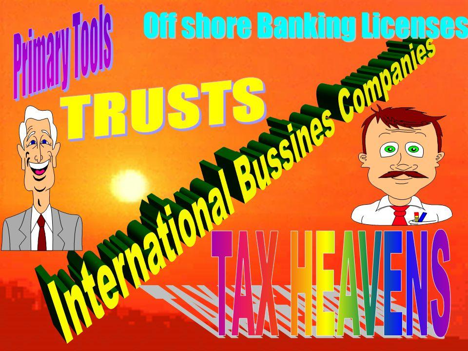 INSTRUMENTOS COMUNES Sociedades Off Shore Fideicomisos Fundaciones de familia Fundaciones con fundador-beneficiario Licencias bancarias en paraísos fiscales Sociedades domiciliadas Los llamados sistemas inexpugnables