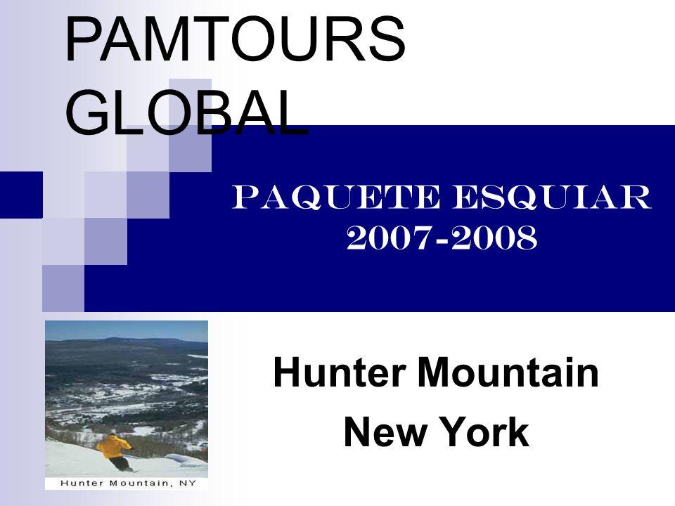 HUNTER MOUNTAIN www.huntermtn.com www.huntermtn.com Ubicado a dos horas por tierra de NYC en la region montañosa de los Catskills.