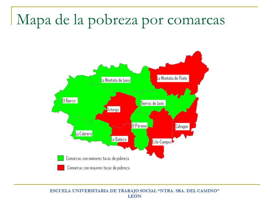 ESCUELA UNIVERSITARIA DE TRABAJO SOCIAL NTRA. SRA. DEL CAMINO LEÓN Mapa de la pobreza por comarcas
