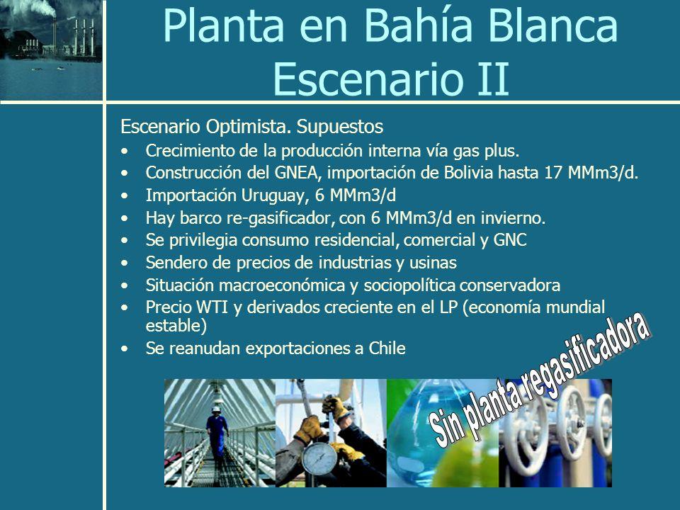 Planta en Bahía Blanca Escenario II Escenario Optimista.
