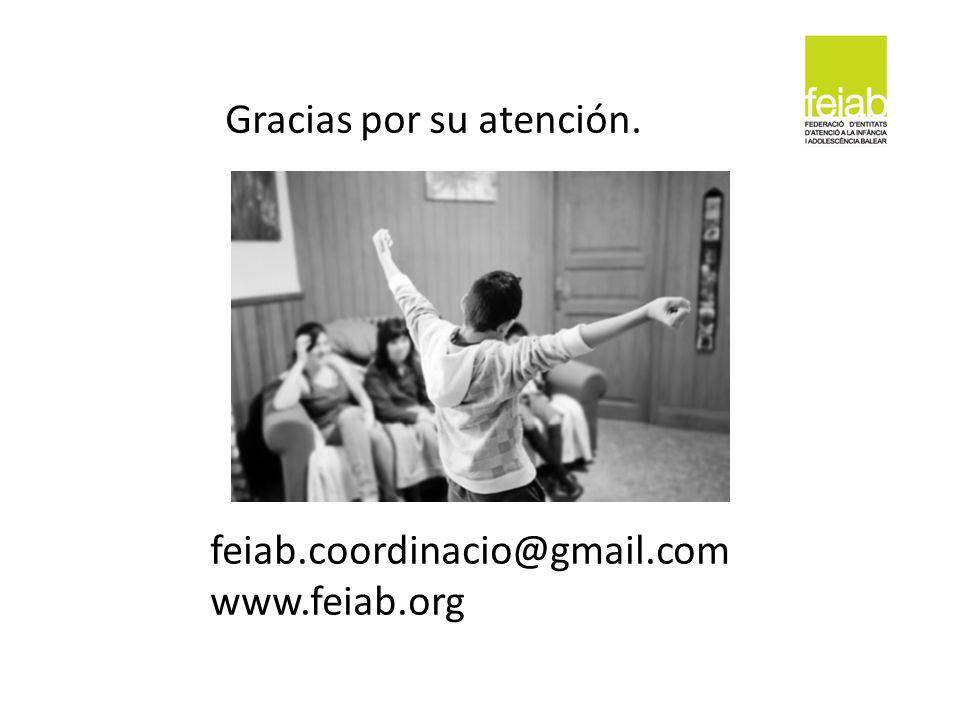 feiab.coordinacio@gmail.com www.feiab.org Gracias por su atención.