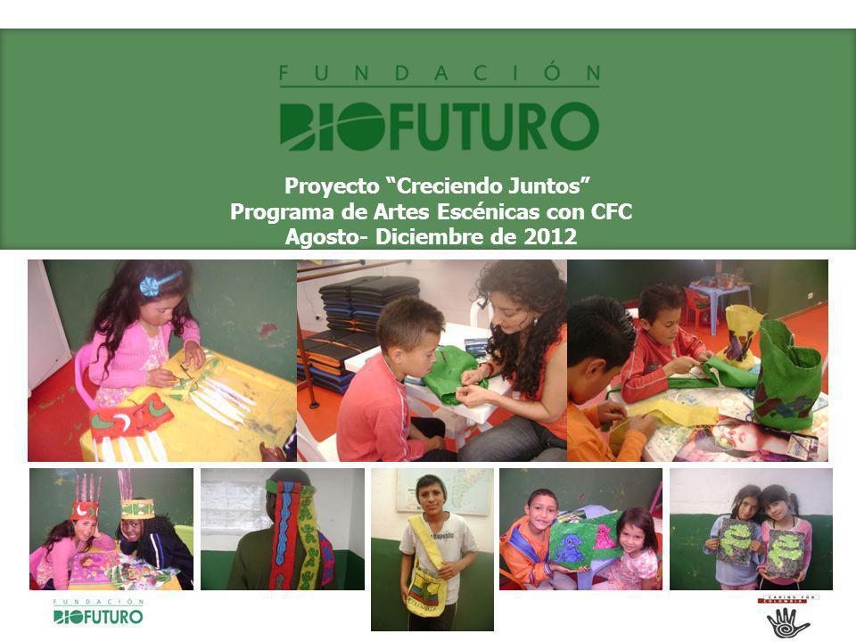 Proyecto Creciendo Juntos Programa de Artes Escénicas con CFC Agosto- Diciembre de 2012