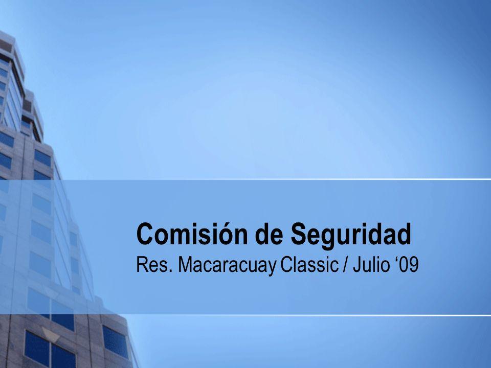 Comisión de Seguridad Res. Macaracuay Classic / Julio 09