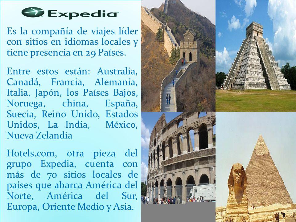 Expedia cuenta con más de 300 Aerolíneas y 145,000 hoteles afiliados alrededor del mundo, así como facilita a sus más de 2.7 millones de usuarios activos la posibilidad de realizar más de 7,000 actividades dependiendo su destino.