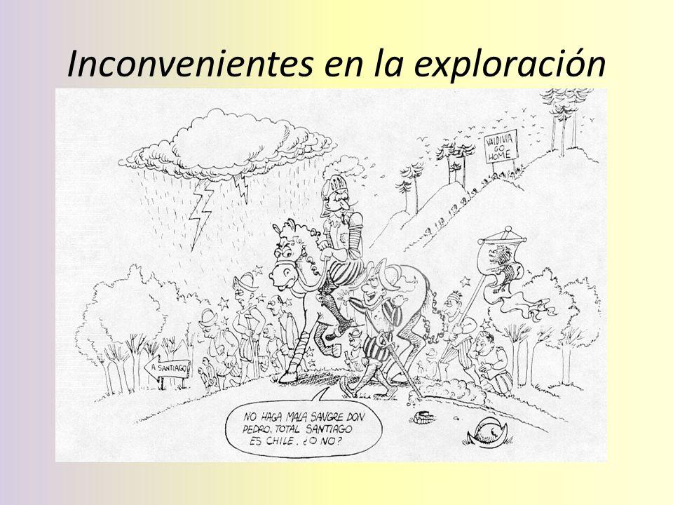 Inconvenientes en la exploración