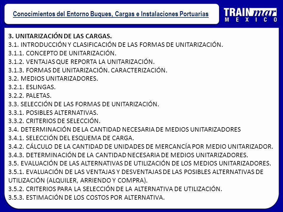 3. UNITARIZACIÓN DE LAS CARGAS. 3.1. INTRODUCCIÓN Y CLASIFICACIÓN DE LAS FORMAS DE UNITARIZACIÓN. 3.1.1. CONCEPTO DE UNITARIZACIÓN. 3.1.2. VENTAJAS QU