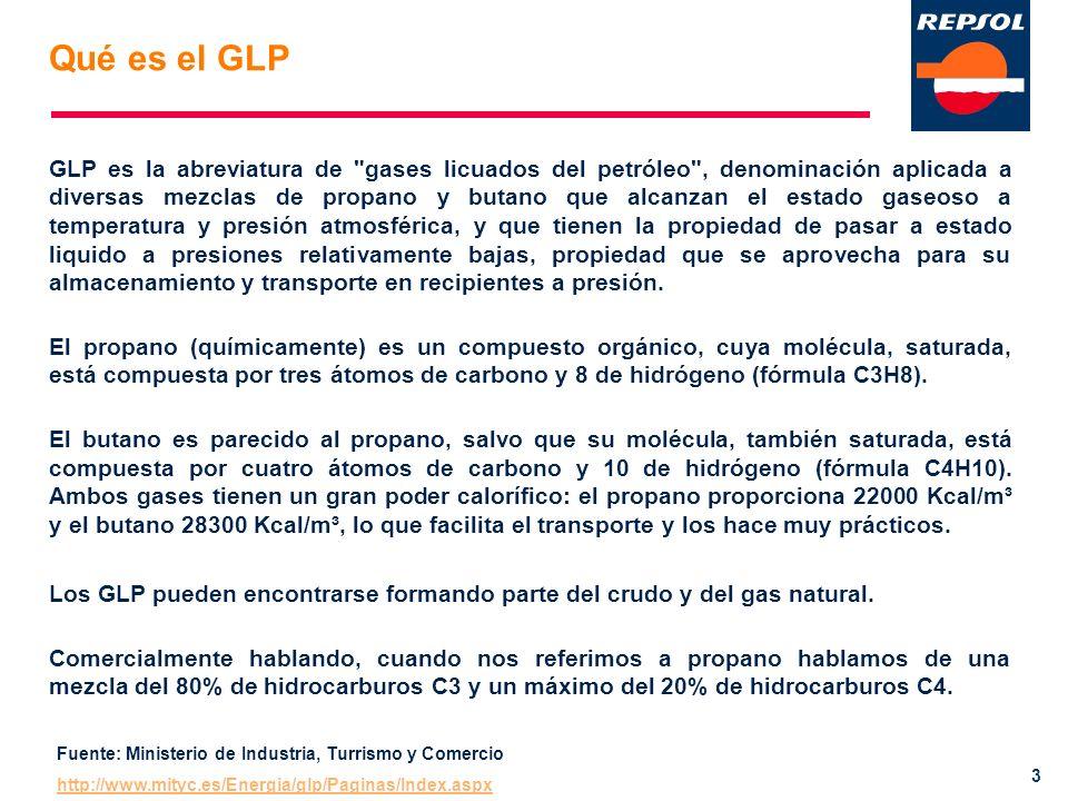 4 Características del GLP Respeto al medioambiente: Rendimientos y emisiones en la producción de AC S del sector doméstico y servicios mediante energías convencionales.
