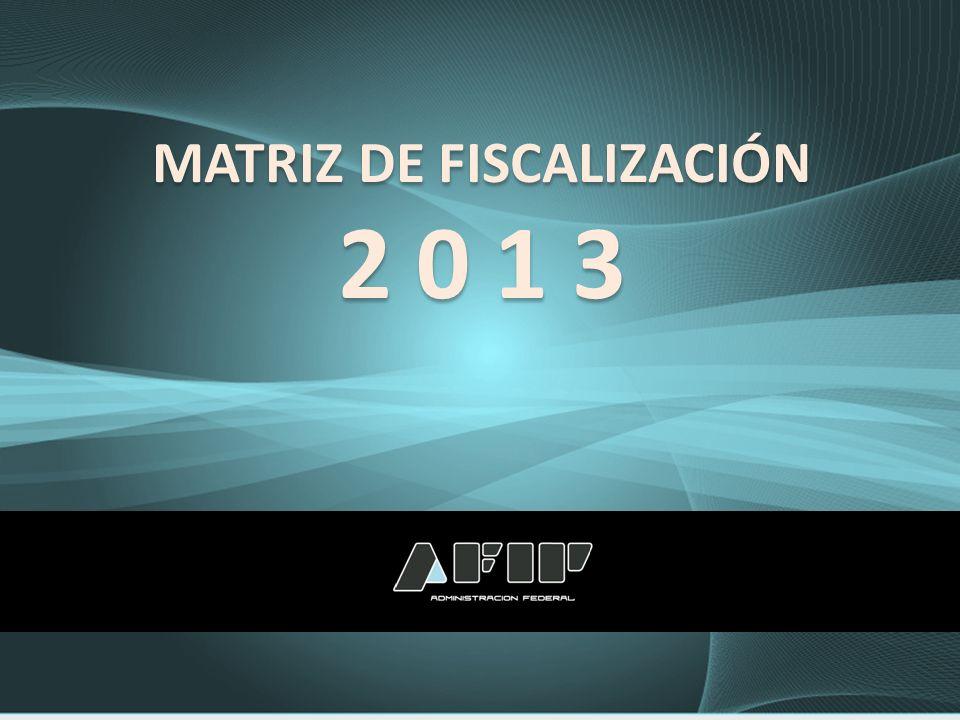 MATRIZ DE FISCALIZACIÓN 2 0 1 3 MATRIZ DE FISCALIZACIÓN 2 0 1 3