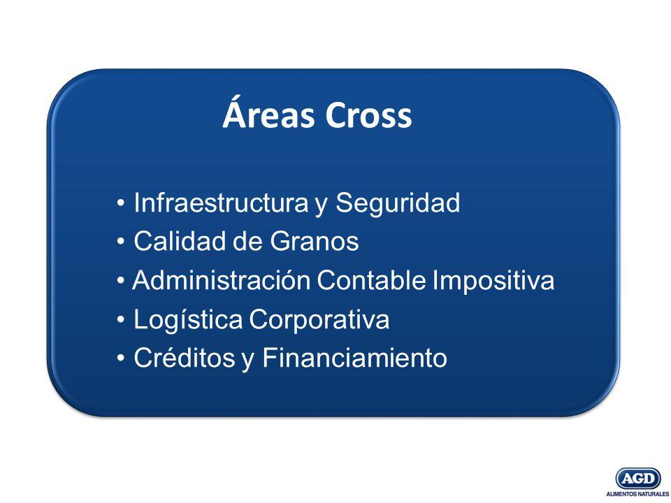 Áreas Cross Infraestructura y Seguridad Calidad de Granos Administración Contable Impositiva Logística Corporativa Créditos y Financiamiento