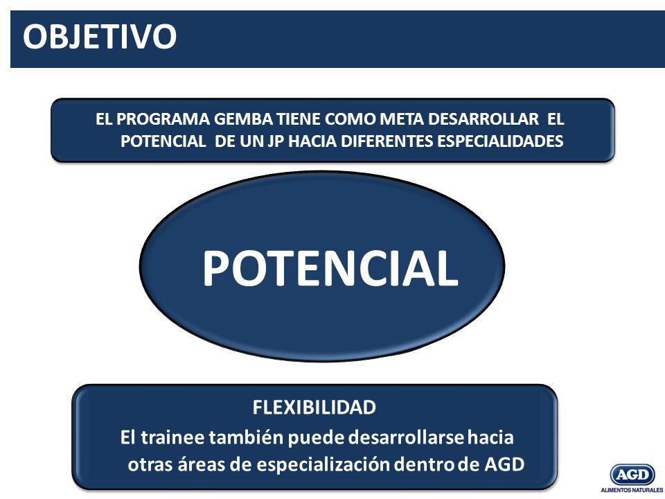 GERENCIA DE ACOPIO ASESORIA TECNICO COMERCIAL POTENCIAL FLEXIBILIDAD El trainee también puede desarrollarse hacia otras áreas de especialización dentr