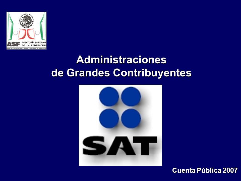 Administraciones de Grandes Contribuyentes Cuenta Pública 2007