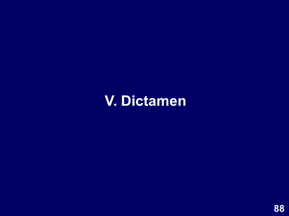 V. Dictamen 88
