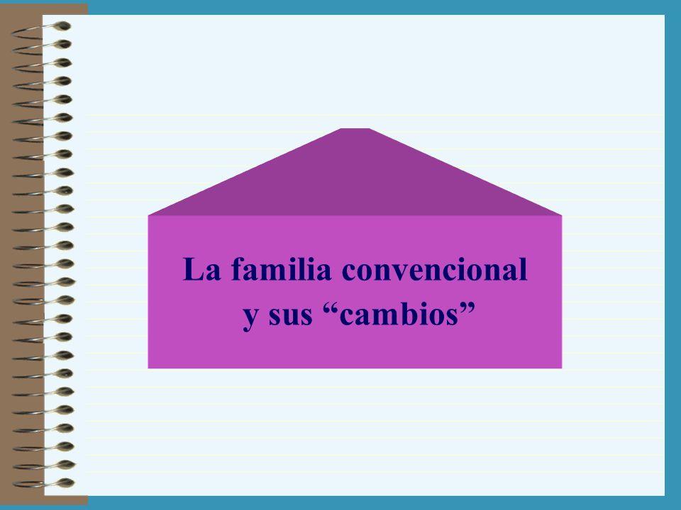 La familia convencional y sus cambios