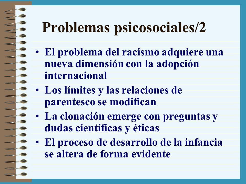 Problemas psicosociales/2 El problema del racismo adquiere una nueva dimensión con la adopción internacional Los límites y las relaciones de parentesc