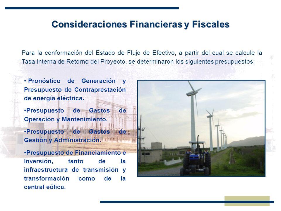 Consideraciones Financieras y Fiscales Para la conformación del Estado de Flujo de Efectivo, a partir del cual se calcule la Tasa Interna de Retorno d