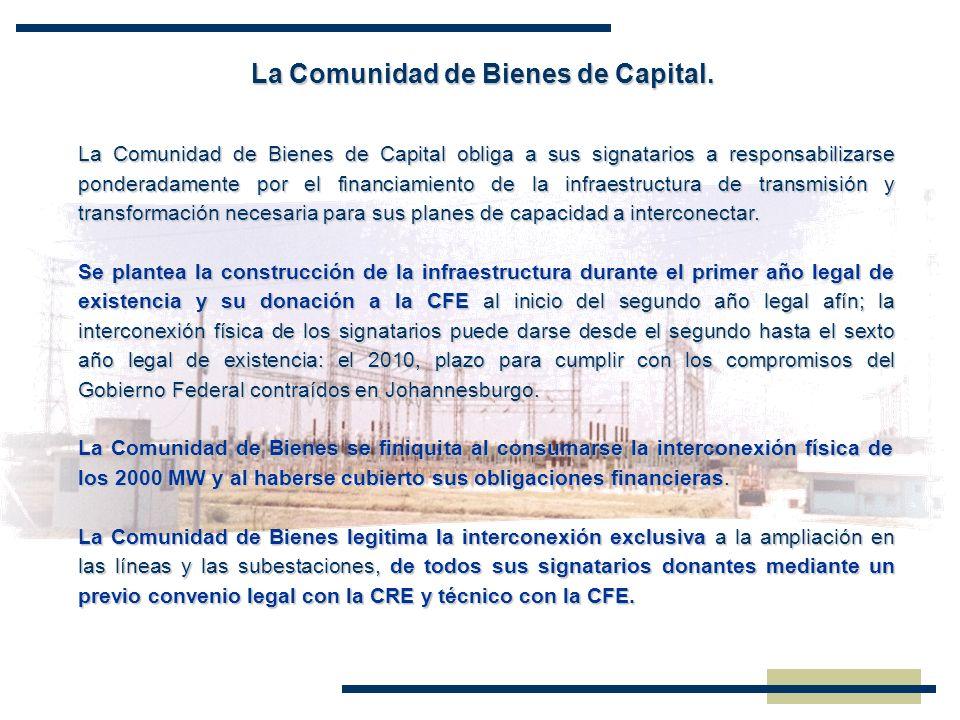 La Comunidad de Bienes de Capital. La Comunidad de Bienes de Capital obliga a sus signatarios a responsabilizarse ponderadamente por el financiamiento