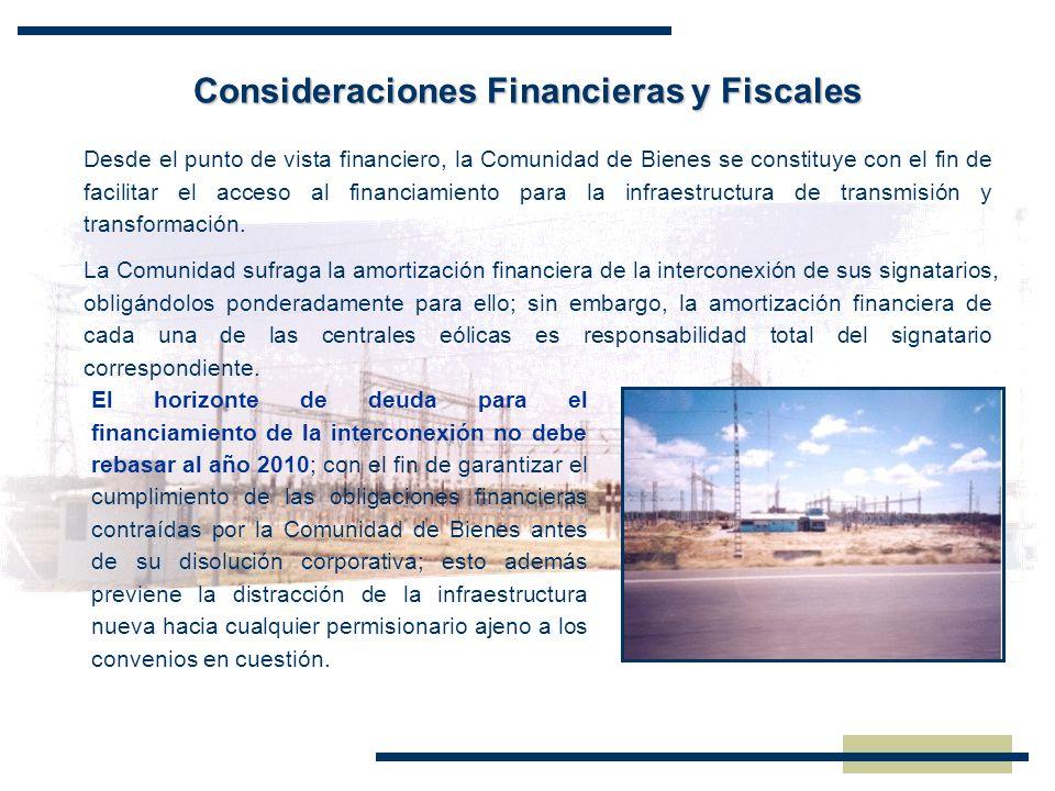 Consideraciones Financieras y Fiscales Desde el punto de vista financiero, la Comunidad de Bienes se constituye con el fin de facilitar el acceso al f