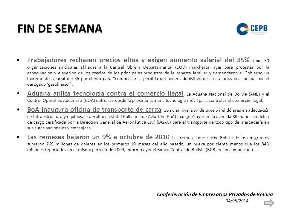 FIN DE SEMANA Trabajadores rechazan precios altos y exigen aumento salarial del 35%. Unas 30 organizaciones sindicales afiliadas a la Central Obrera D